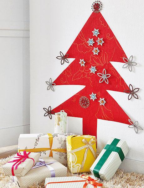 Rbol de navidad de pared gu a de manualidades for Arbol de navidad mural