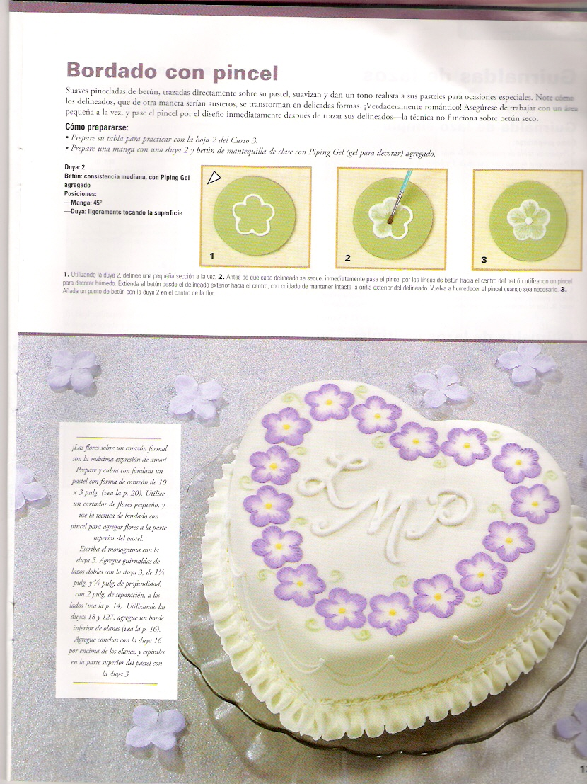 Decoracion De Tortas Con Baño Wilton:Aprende a hacer detalles, bordes ...