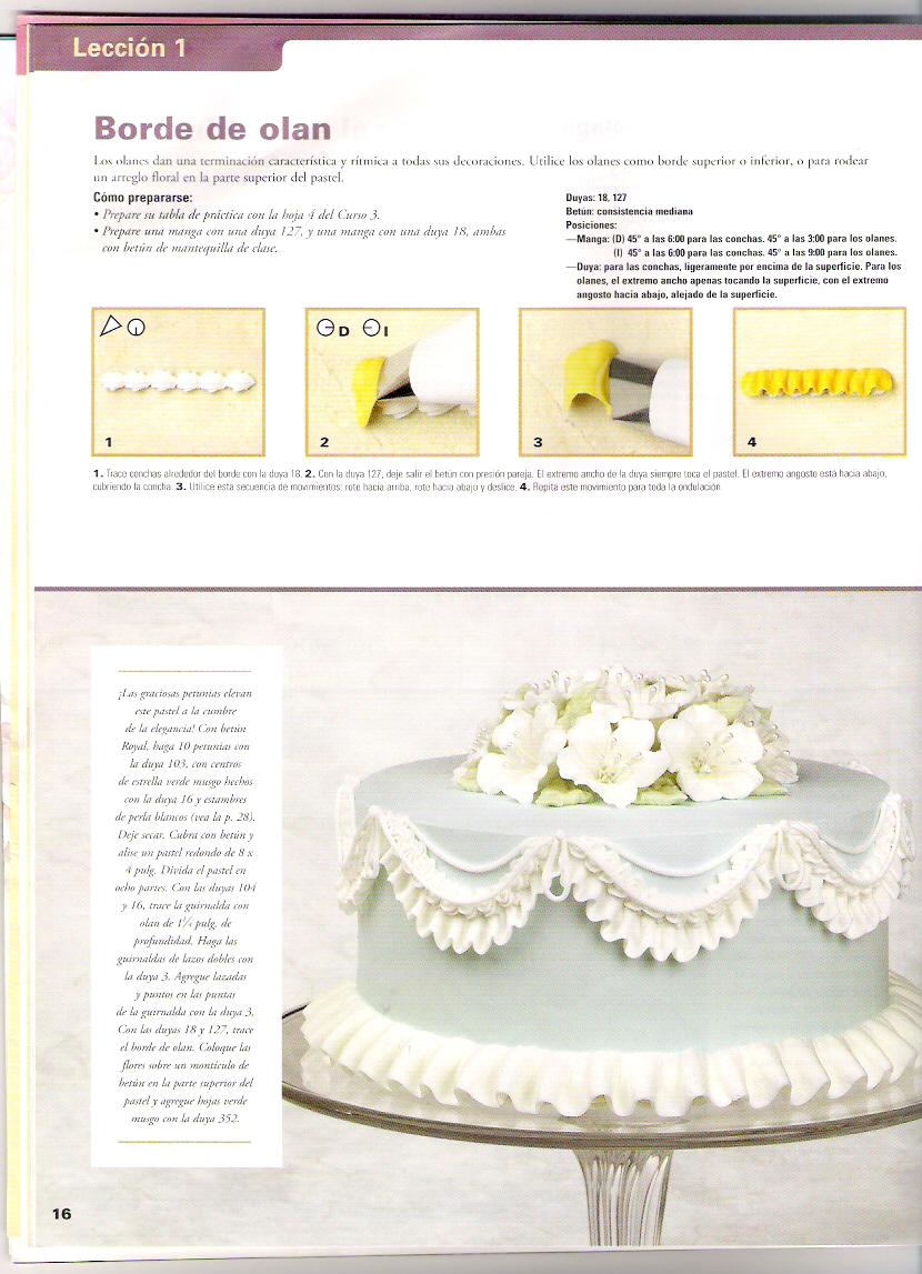 Decoracion De Tortas Con Baño Wilton:Aprende a hacer detalles, bordes y guirnaldas en tortas7