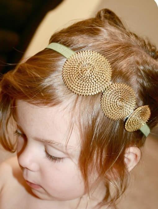 Diademas para ni as realizadas con cierres gu a de for Diademas de tela para el cabello