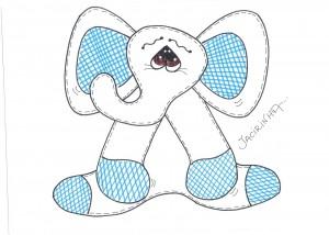 Elefantito en goma eva2