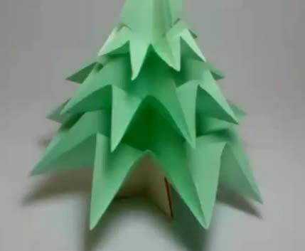 Origami árbol de navidad