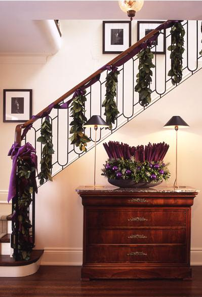 Algunas ideas para decorar las escaleras en navidad4