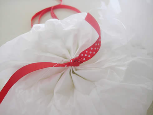 Corona para puerta con papel seda8