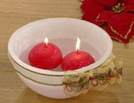 imagen Manualidades con velas: hermoso cuenco con velas