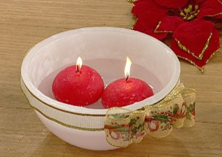 Manualidades con velas hermoso cuenco con velas-1