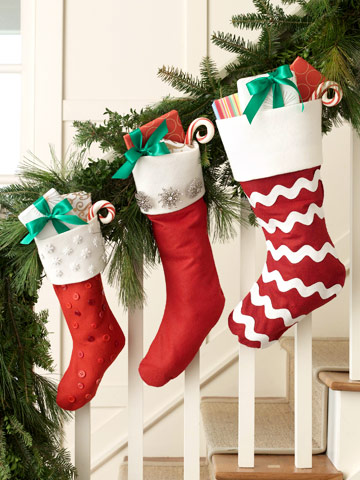 Manualidades navideñas botas de fieltro1