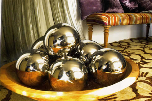Manualidades navideñas bolas metalizadas caseras