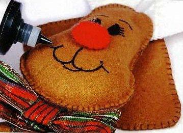 Muñecos en fieltro reno navideño15