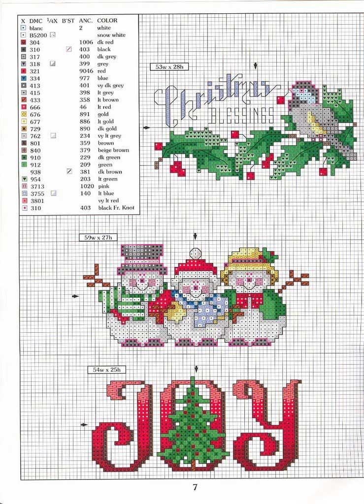 Punto cruz: bordados navideños - Guía de MANUALIDADES