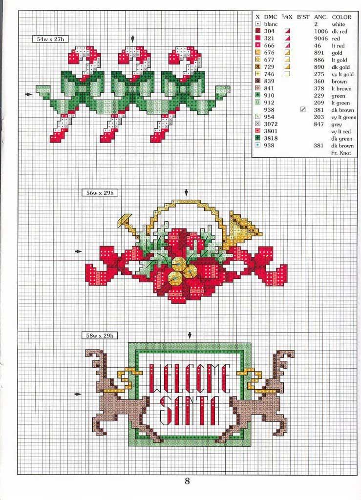 Punto cruz: bordados navideños Artículo Publicado el 28.12.2010 por