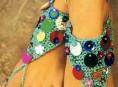 imagen Tejido a crochet: apliques coloridos para los pies