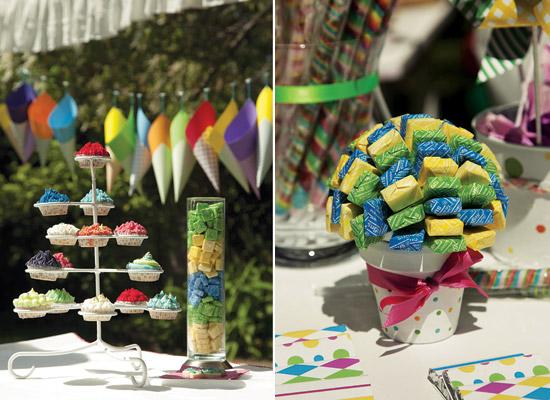 Colorida y divertida decoración para fiestas de niños4