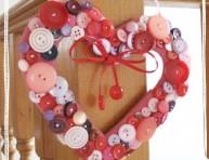 imagen Corazón de botones para el día de los enamorados
