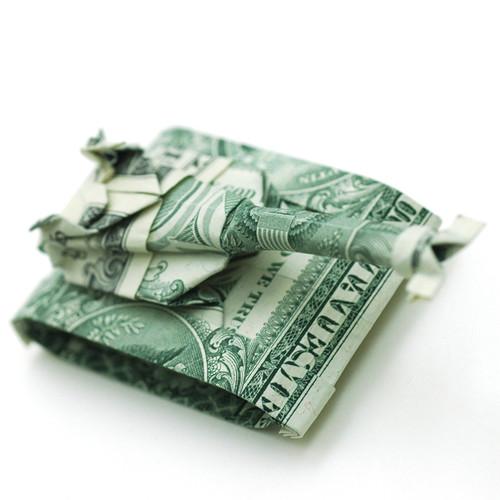 Origami formas increibles con un billete de un dólar18z
