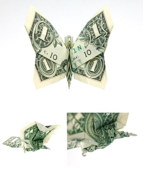 Origami formas increibles con un billete de un dólar19z