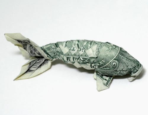 Origami formas increibles con un billete de un dólar22z