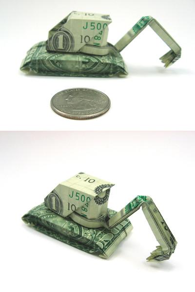 Origami formas increibles con un billete de un dólar25z