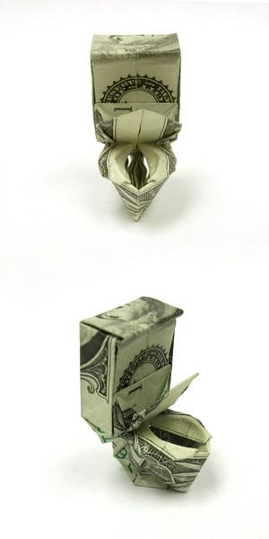 Origami formas increibles con un billete de un dólar27z