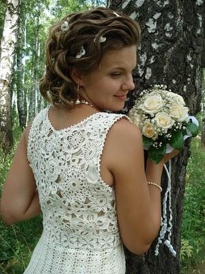 Tejido a crochet vestido de novia