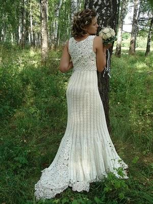 Tejido a crochet vestido de novia2