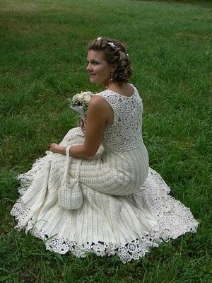 Tejido a crochet vestido de novia4