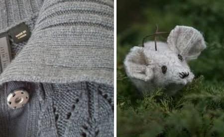 Manualidades con lana un ratón de un viejo sweater1