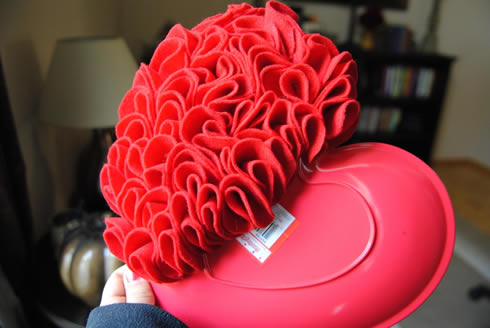 Manualidades del Dia de los Enamorados Corazón de fieltro muy romántico7