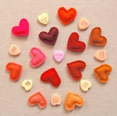 Manualidades para San Valentin romántica cortina realizada en fieltro2