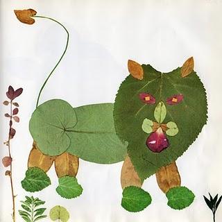 Manualidades para los peques_ animalitos con hojas naturales-04