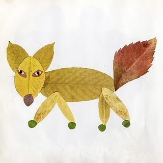 Manualidades para los peques_ animalitos con hojas naturales-06