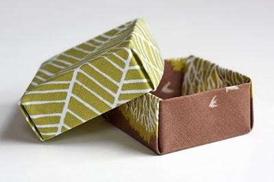 Origami caja de tela decorativa-0