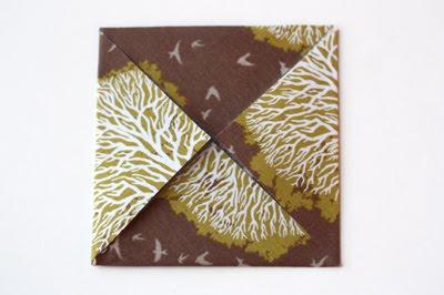 Origami caja de tela decorativa-1