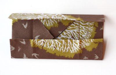 Origami caja de tela decorativa-2