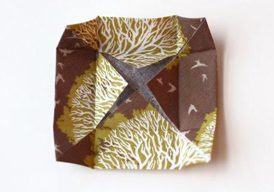 Origami caja de tela decorativa-3
