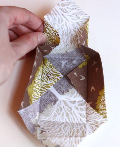 Origami caja de tela decorativa-4