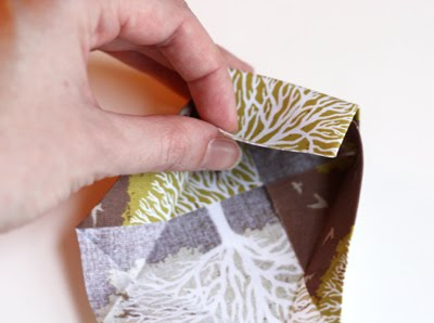Origami caja de tela decorativa-5