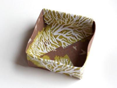 Origami caja de tela decorativa-6