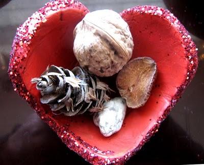 Porcelana fría Adorno romántico con forma de corazón1