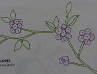 imagen Un mantel pintado para la mesa de jardín