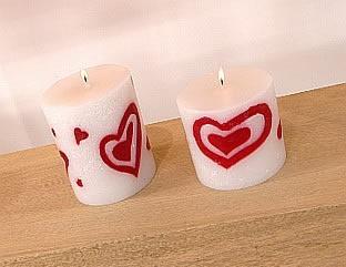 Velas románticas para San Valentín-1