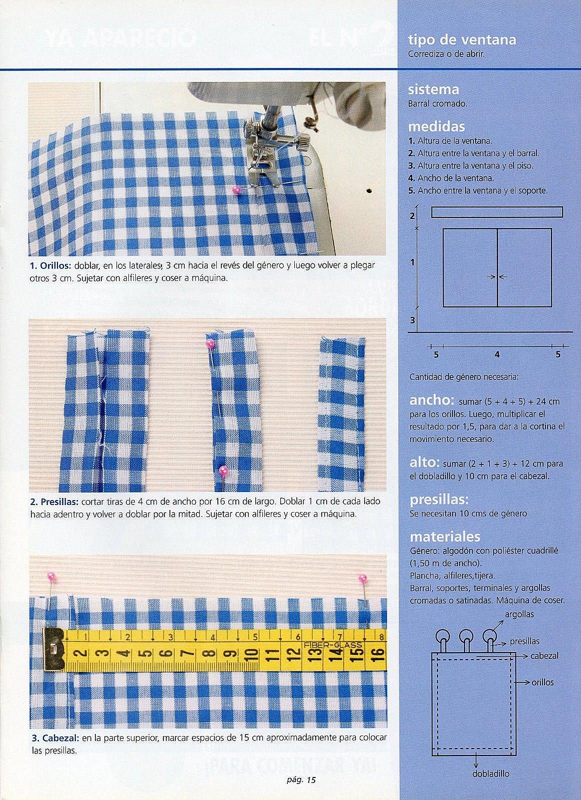 Cortina para el comedor paso a paso gu a de manualidades - Como hacer cortinas de cocina paso a paso ...