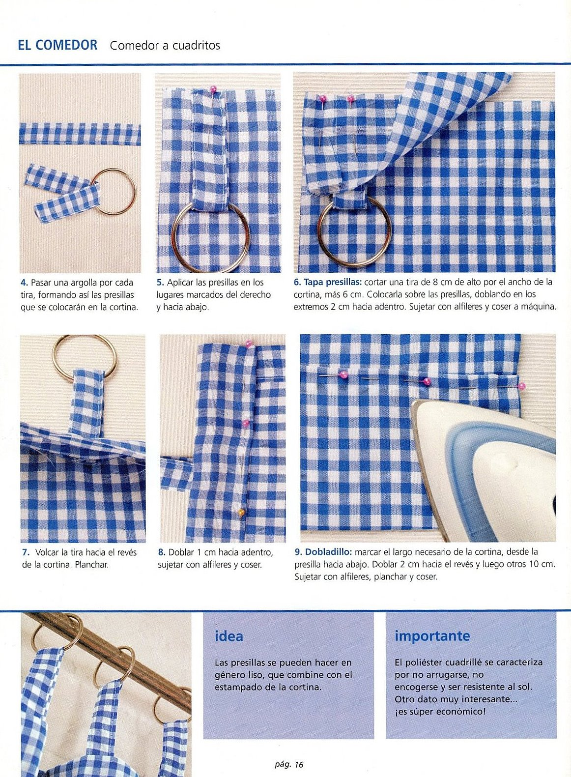 Pin manualidades para tu cocina pelautscom on pinterest - Cortinas para comedor ...