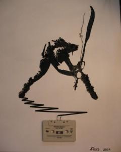 Increibles manualidades con cinta de cassettes-13