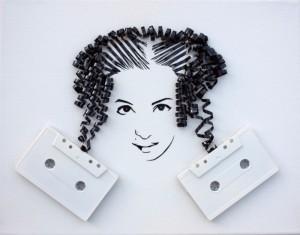 Increibles manualidades con cinta de cassettes-21