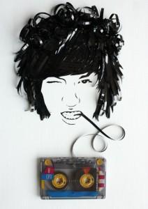 Increibles manualidades con cinta de cassettes-24