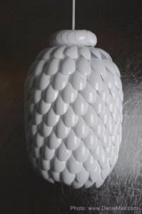 Lámpara casera con cucharas7