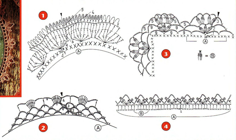 Puntillas faciles crochet patrones - Imagui