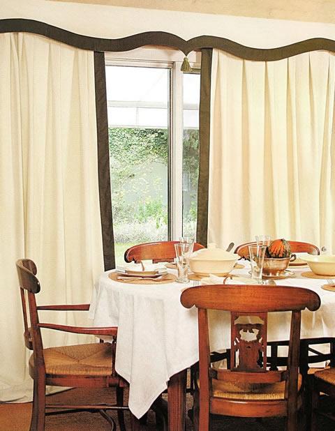 Elegante cortina para tu comedor paso a paso gu a de for Cortinas en comedor