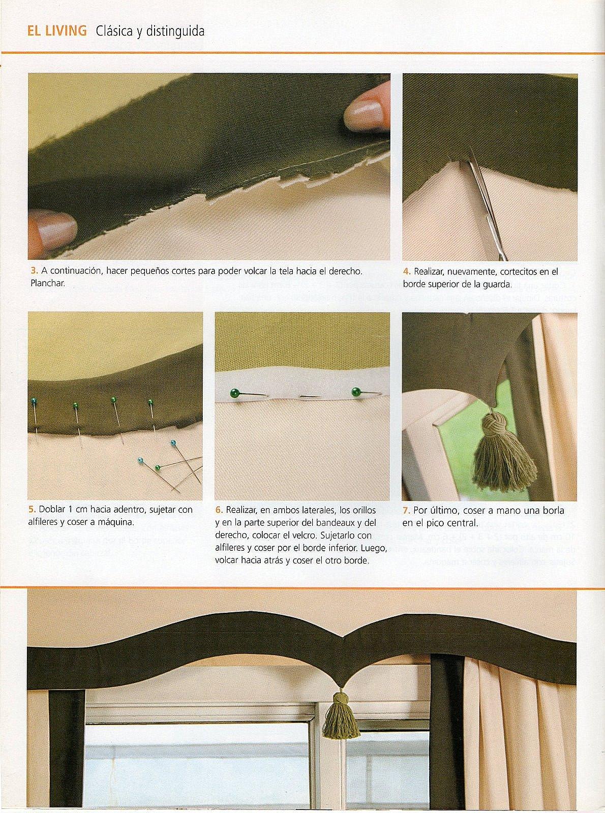 Elegante cortina para tu comedor paso a paso gu a de - Manualidades para decorar el hogar paso a paso ...